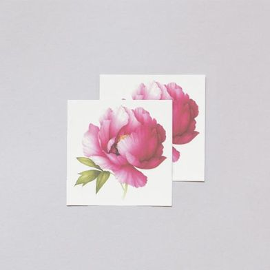 Pink Peony Scented Temporary Tattoos