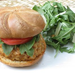 Spicy Shrimp Chorizo Burgers