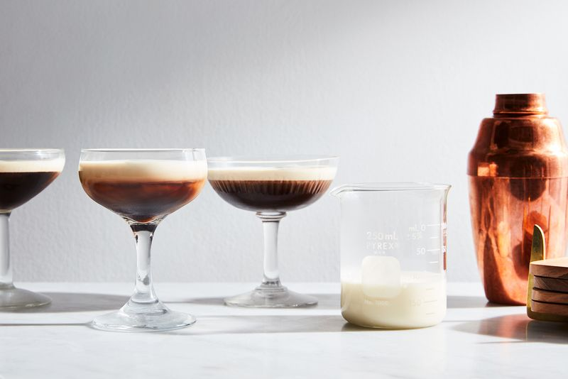 Pour the coffee out of a martini shaker, for that extra flair.