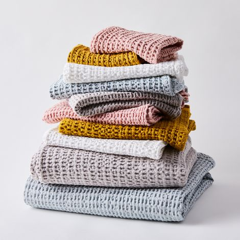 Simple Soft Cotton Waffle Towels