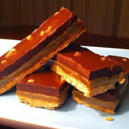Earl Grey and Five Spice Millionaire's Shortbread