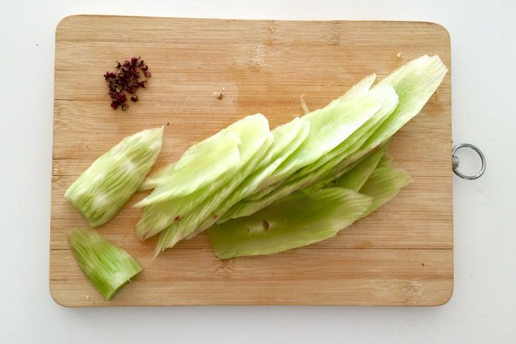 Celtuce & Peppercorn Salad (Stem Lettuce)