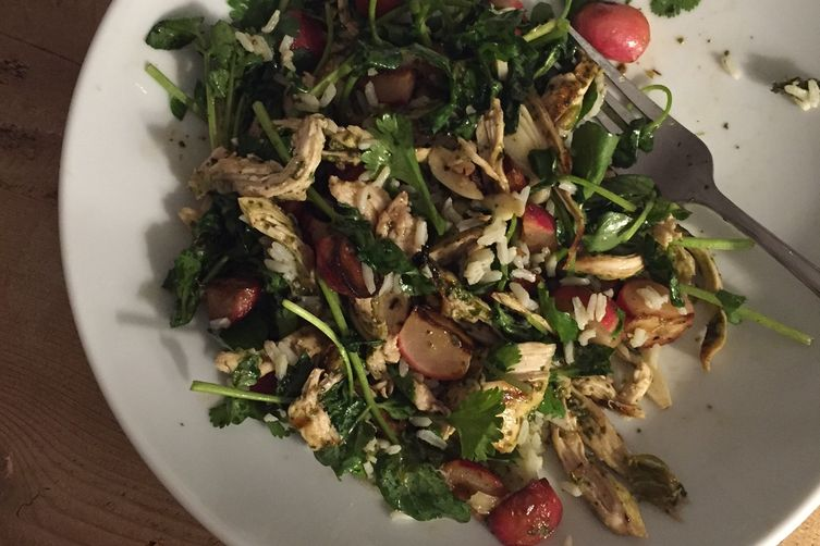 Chicken and Rice Salad with Poached Radishes and Nuoc Cham
