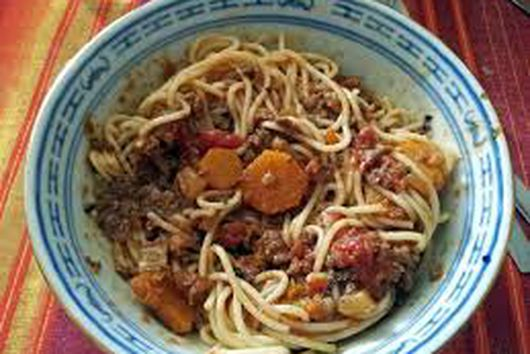 Spaghetti with Mince meat