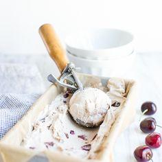 Bourbon Soaked Cherry Vanilla Bean Ice Cream