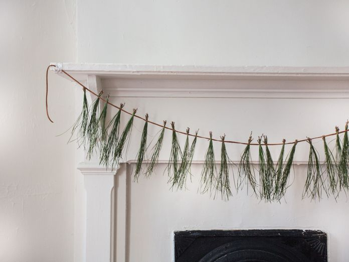 Dress up Your Mantle with a Pine Needle Garland
