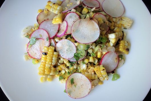 Grilled Corn and Easter Egg Radish Salad