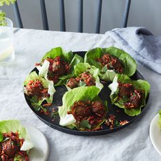 Spicy Meatless Lettuce Wraps