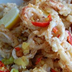 Calamari Fritti with Pepper Sauce