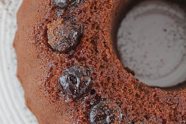 Chocolate Spice Cake with Black Cherries