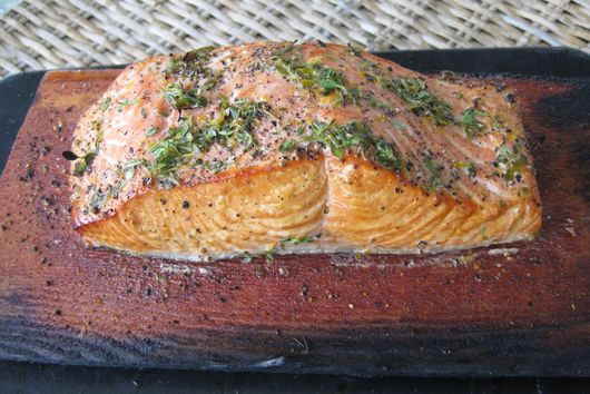 Wine and Honey Salmon (on yet another cedar plank)