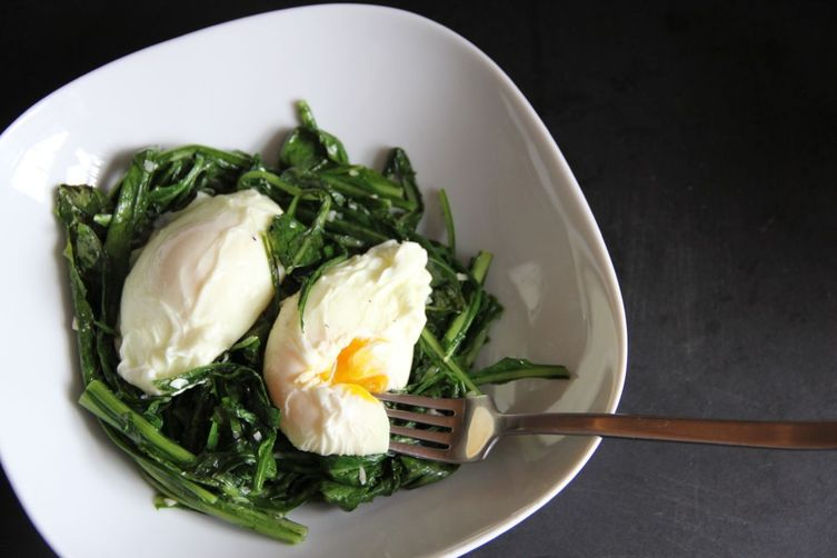 Spigarello with Poached Eggs