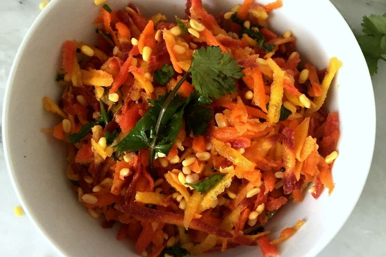 Carrot Rainbow salad with Mung