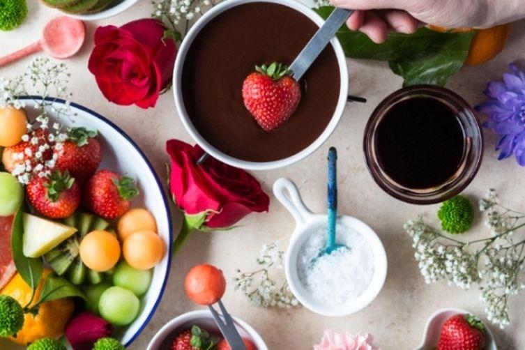 Triple Chocolate Fondue for Two
