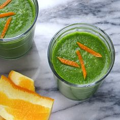 orange and green detox smoothie