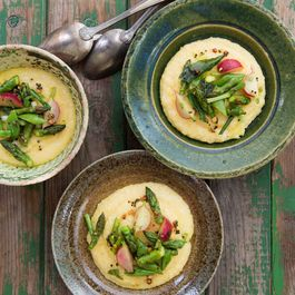 Spiced Spring Vegetable and Coconut Polenta