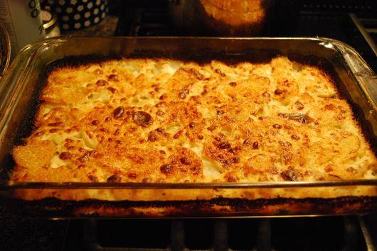 Scalloped Turnips and Potatoes with Horseradish