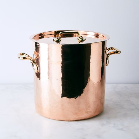 Vintage Copper X-Large French Paris Stockpot, Late 19th Century