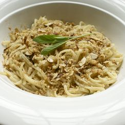 Linguine with Brown Butter, Sage and Poor Man's Parmesan