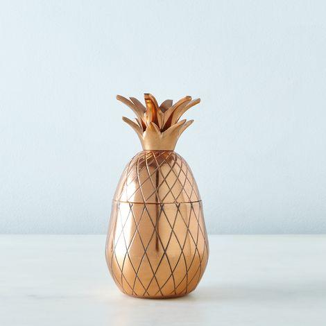 Metallic Pineapple Tumbler