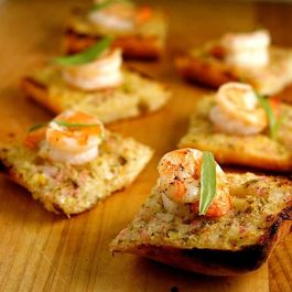 Toasted Ciabatta with Shrimp and Tarragon Butter