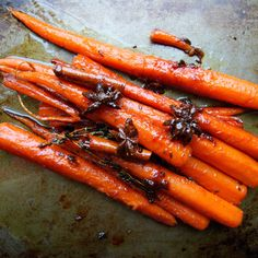 Honey-Glazed Carrots with Cinnamon and Star Anise