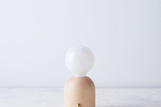 Handturned Maple Domos Lamp