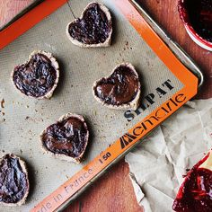 Chocolate Raspberry Heart Tarts