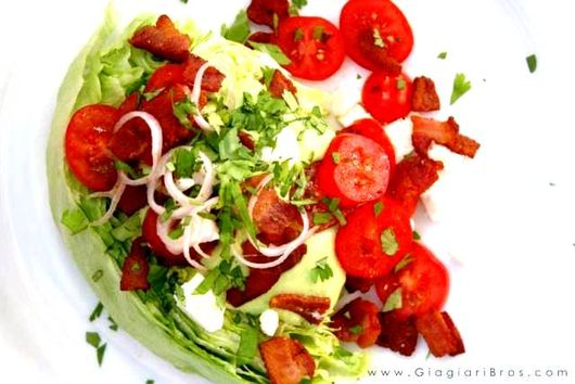 BLT Wedge Salad with Silky-Smooth Creamy Avocado Dressing