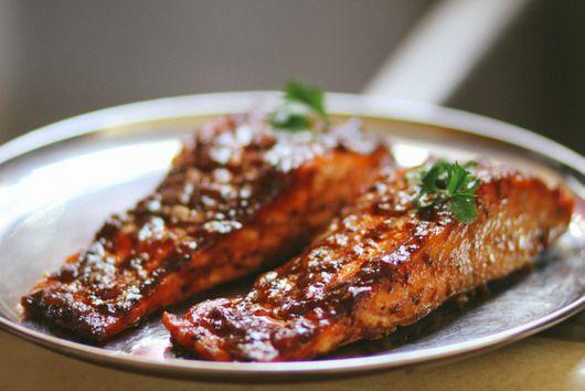 South Indian Tamarind Glazed Salmon