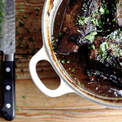 Short Ribs Braised in Red Wine and Vanilla