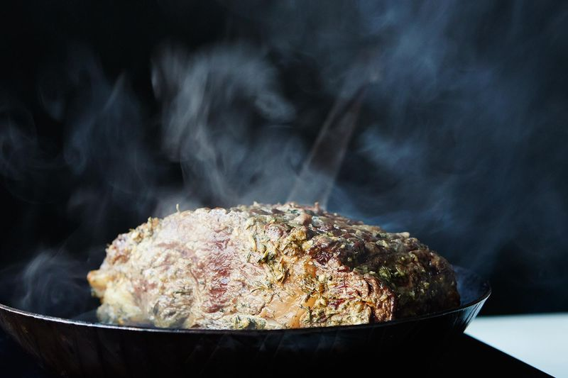 Lynne Curry's Prime Rib with Mustard and Herb Butter