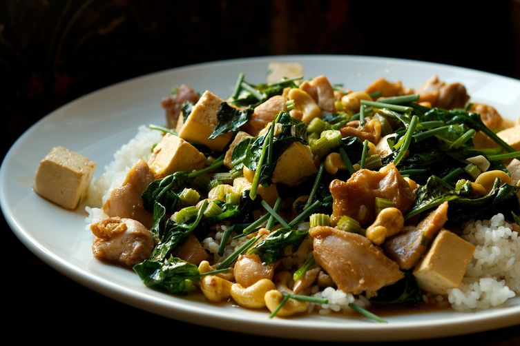 Chicken and Tofu Stir Fry with Celery and Cashews Recipe on Food52