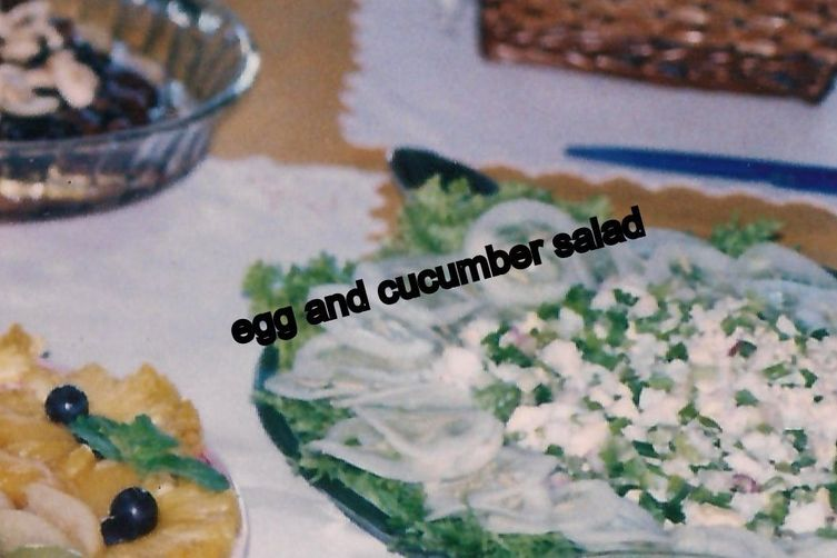 Egg and Cucumber Salads