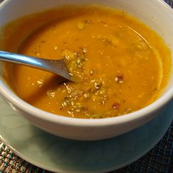 Apple, Carrot, and Parsnip Soup