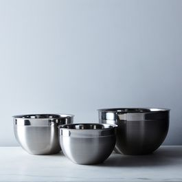 Heavyweight Stainless Steel Mixing Bowls (Set of 3)