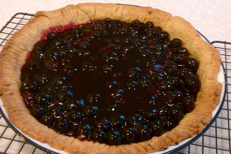 Minty Blueberry Pie