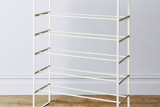 Wood & Steel 6-Tier Shoe Rack