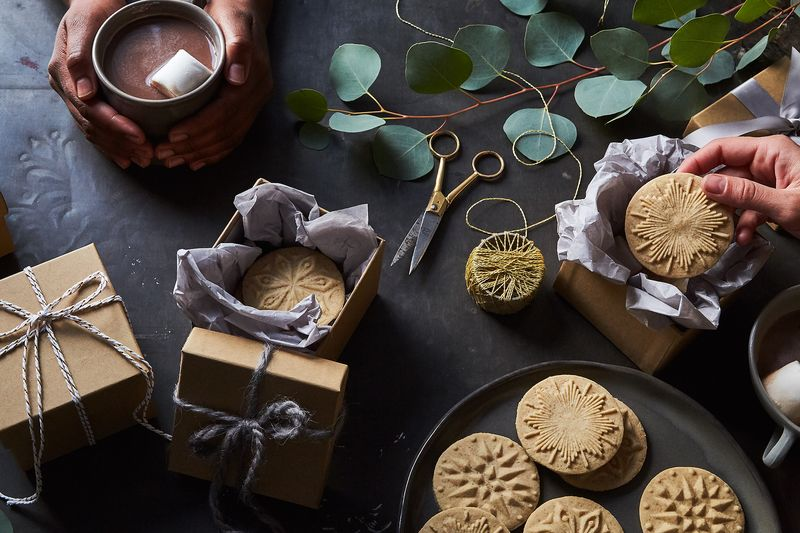 Cookies tied up with gold, glittering strings, these are a few of our favorite things...