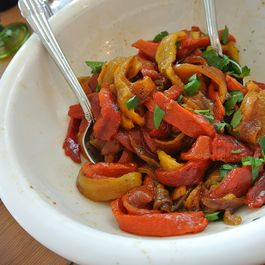 roasted sweet bell pepper salad