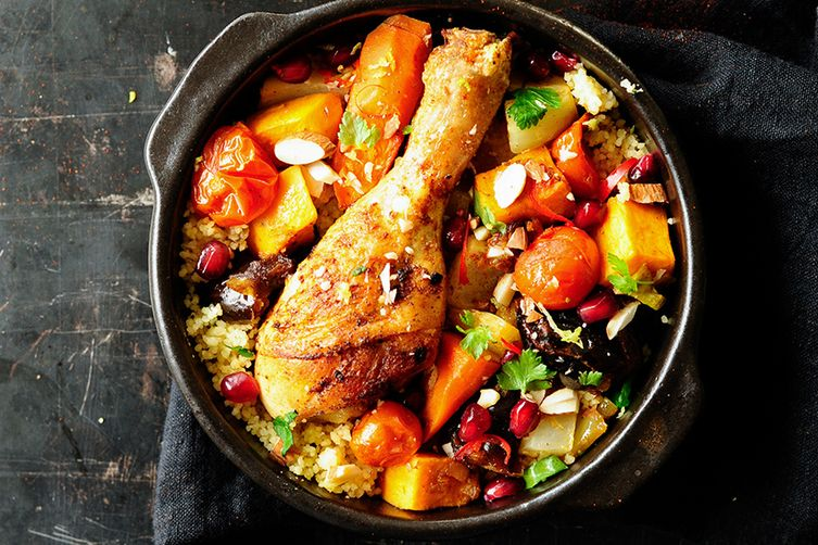 Moroccan chicken with dates