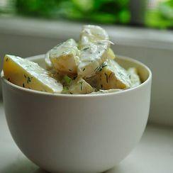 Dinner Tonight: Grill-Roasted Meatloaf + Horseradish Dill Potato Salad
