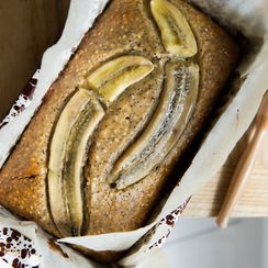 Anna Jones' Seeded Banana Bread with Lemon Sesame Drizzle