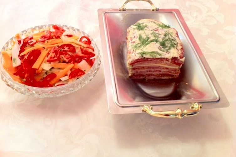 Cold Cuts Terrine with Fennel and Carrots Salad