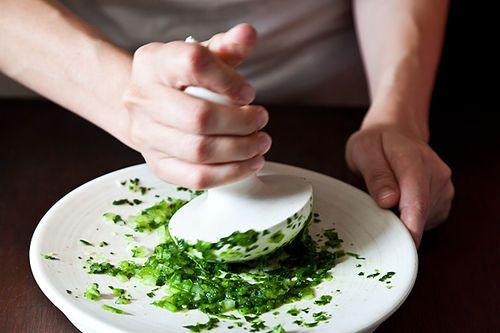 Mashing guacamole