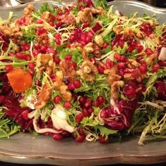 Persimmon, Pomegranate, and Frisee Salad
