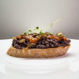 Blood Sausage & Roasted Bell Pepper Tapas