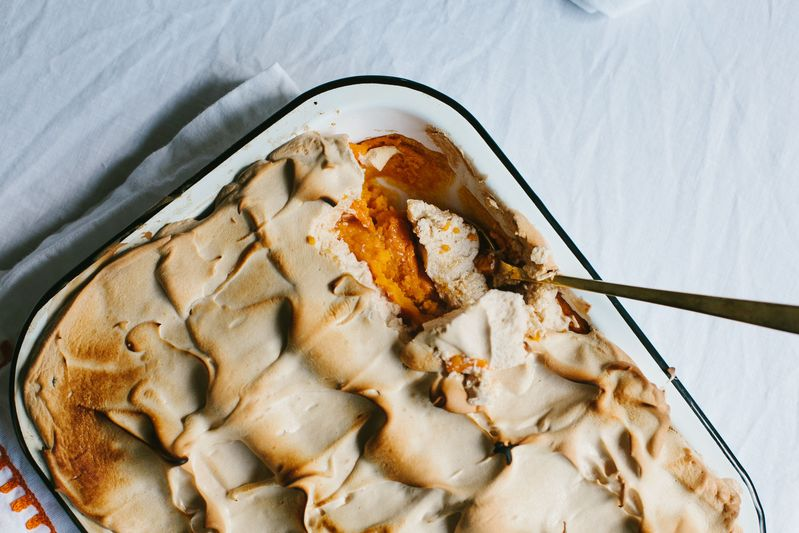 Sweet Potato Casserole with Brown Sugar Fluff