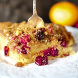 Overnight Cranberry Orange French Toast Casserole