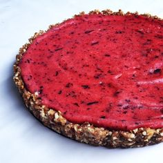 Raw Vegan Strawberry and Blueberry Tart